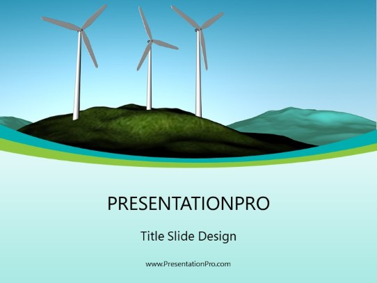 wind farm powerpoint template background in environmental powerpoint