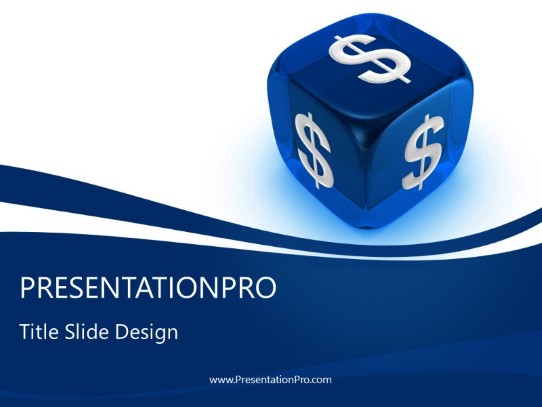 Dollar Dice Powerpoint Template Background In Financial