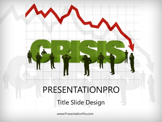 Economic Crisis Powerpoint Template Background In Financial