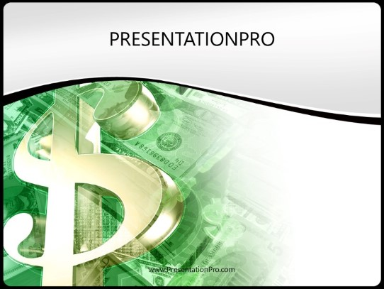 Money Mix Green Powerpoint Template Background In Financial