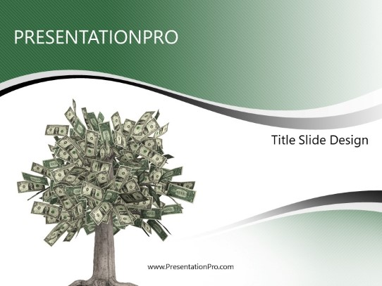 Money Tree Powerpoint Template Background In Financial