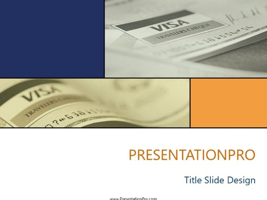 Visa PowerPoint Template Background In Financial