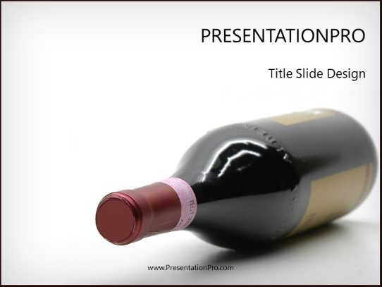 fine wine powerpoint template background in food and beverage