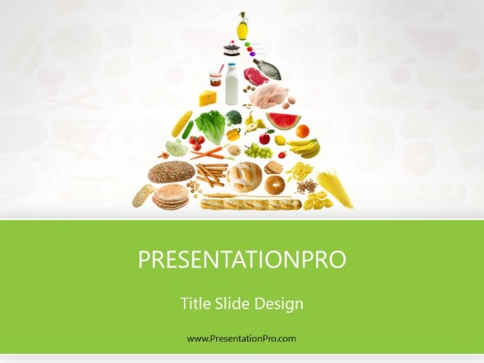 food pyramid green powerpoint template background in food. Black Bedroom Furniture Sets. Home Design Ideas