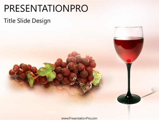 glass o wine powerpoint template background in food and beverage