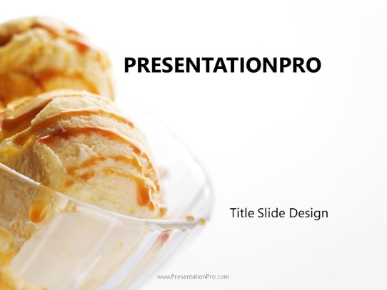 ice cream scoops powerpoint template background in food and beverage