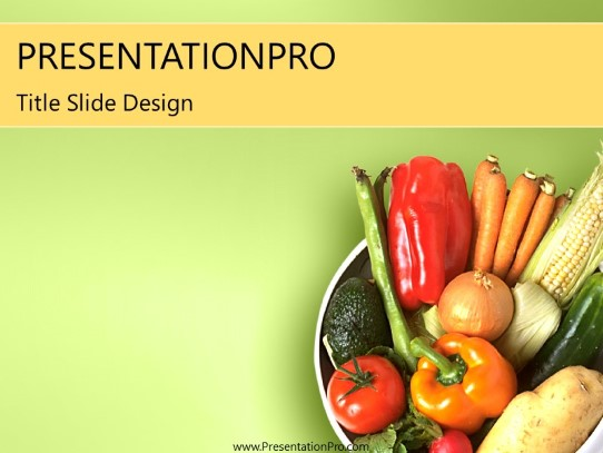 veggie powerpoint template background in food and beverage. Black Bedroom Furniture Sets. Home Design Ideas