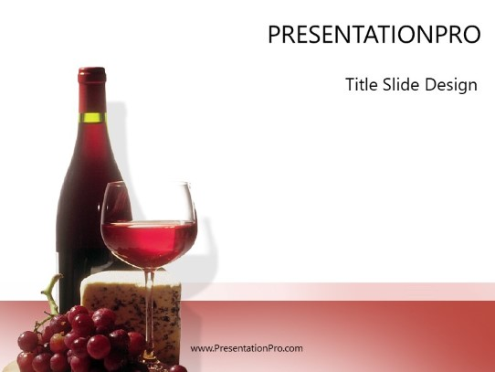 wine n cheese powerpoint template background in food and beverage