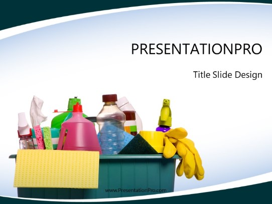 Household Cleaning Powerpoint Template Background In General