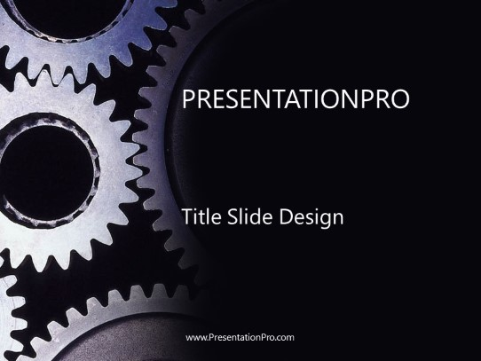 Sliver Gears Powerpoint Template Background In General Powerpoint