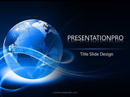 Abstract Globe Powerpoint Template Background In Global Powerpoint