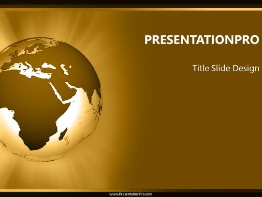 africa rays tan powerpoint template background in global
