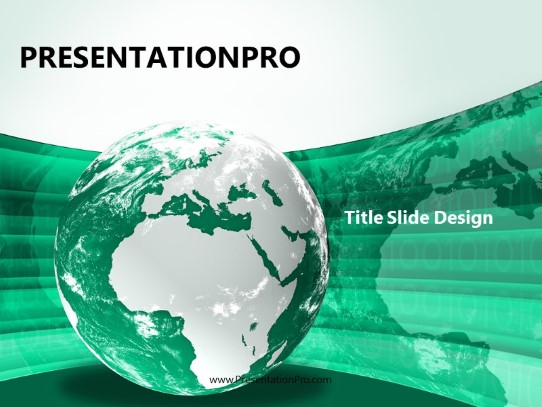 Europe Africa Globe Teal Powerpoint Template Background In Global