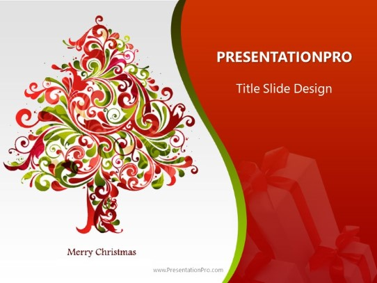 Happy Holidays Tree Powerpoint Template Background In Holiday And
