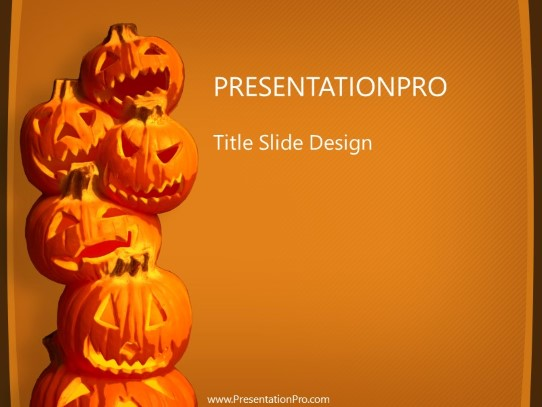 Jack O Lanterns PowerPoint template background in Holiday