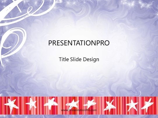 july 4th fun powerpoint template background in holiday and special