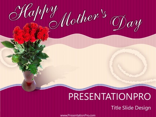 Mothers Day PowerPoint template background in Holiday and Special