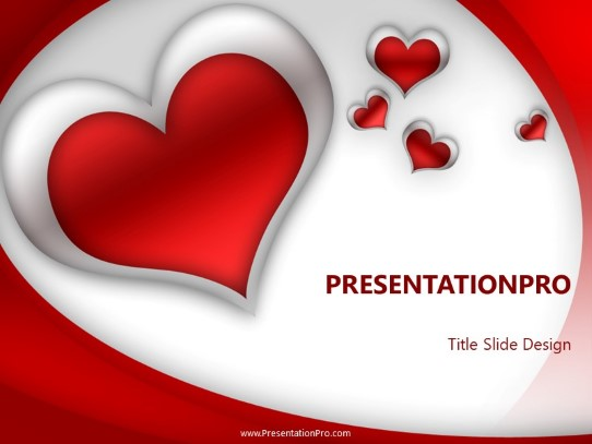 Red Heart Powerpoint Template Background In Holiday And Special