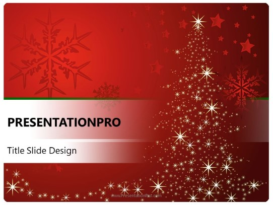Red And White Christmas Powerpoint Template Background In Holiday