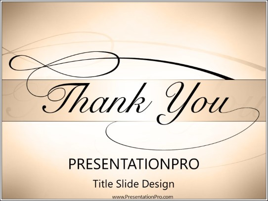 Thankyou Powerpoint Template Background In Holiday And Special