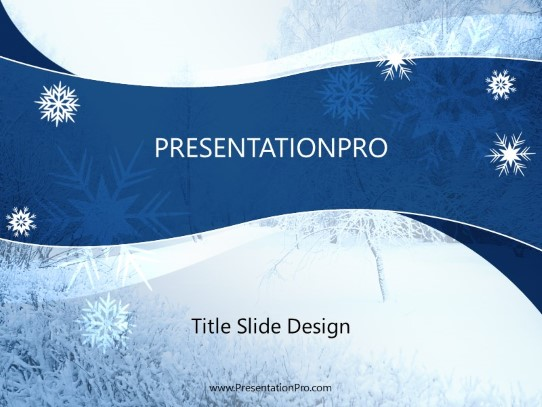 Winter Landscape Powerpoint Template Background In Holiday And