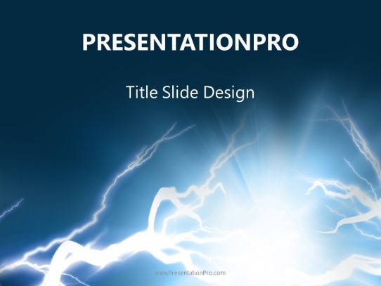 electric shock powerpoint template background in industry careers