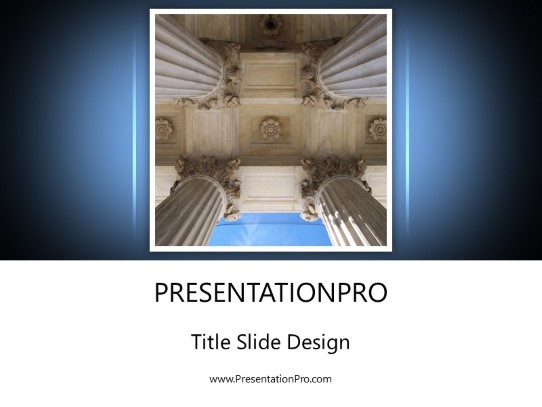 Pillars Law Powerpoint Template Background In Legal