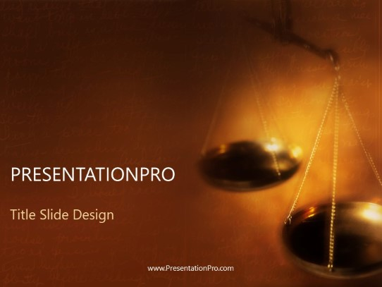 Scales PowerPoint template background in Legal PowerPoint