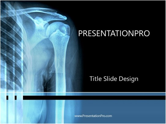 Skeleton X Ray Powerpoint Template Background In Medical
