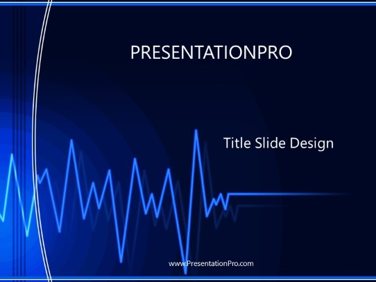 medical ekg powerpoint template background in medical