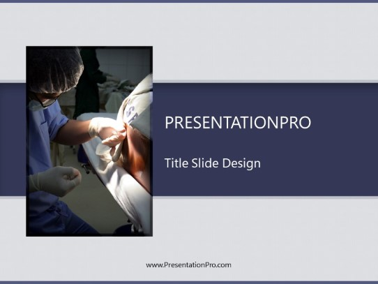 Anesthesiologist At Work Powerpoint Template Background In