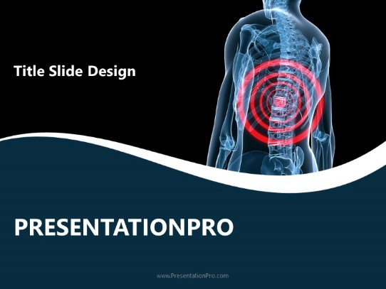 Back Safety Powerpoint Template Background In Medical Healthcare