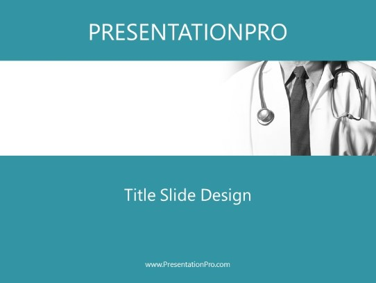 Close Up Teal Powerpoint Template Background In Medical Healthcare