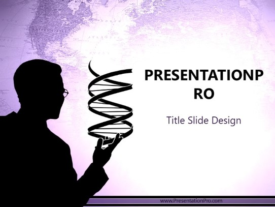 Dna Creation Purple Powerpoint Template Background In Medical