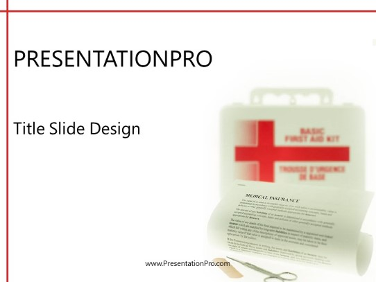 First Aid Powerpoint Template Background In Medical Healthcare