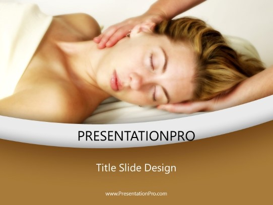 Massage Therapy PowerPoint template background in Medical ...