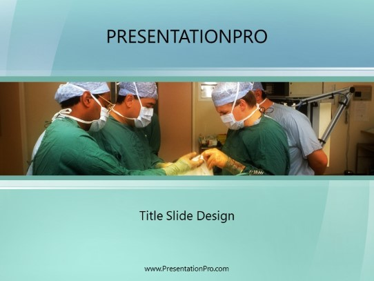 Operating Theatre Powerpoint Template Background In Medical