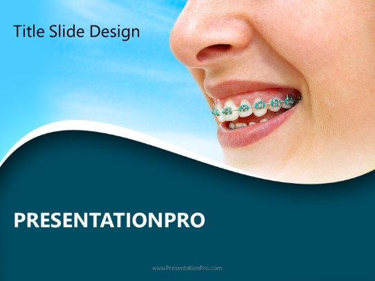 Kids Brushing a Tooth - Powerpoint Templates Free PPT Background