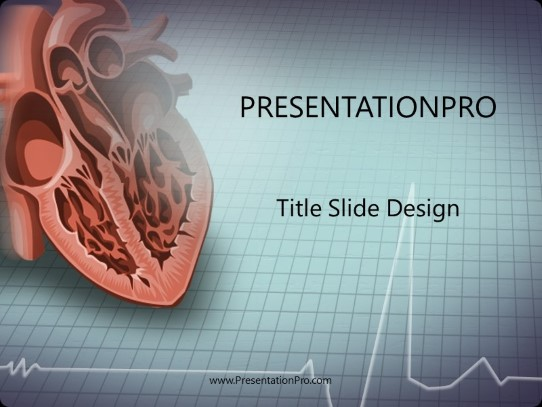 Heart Powerpoint Template Background In Medical Healthcare