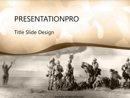 Camoflage Powerpoint Template Background In Military