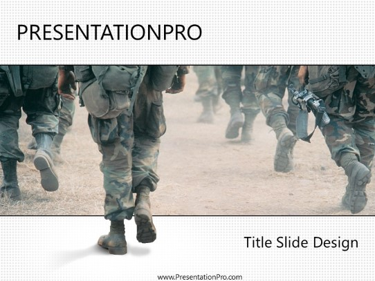 marching powerpoint template background in military powerpoint ppt