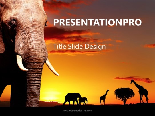 african landscape powerpoint template background in nature
