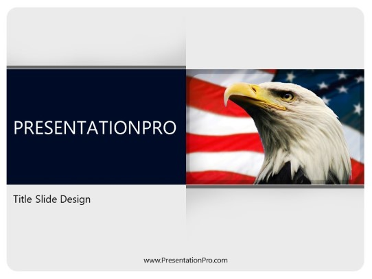animal bald eagle powerpoint template background in nature