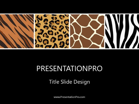 animal prints powerpoint template background in nature powerpoint ppt slide design category