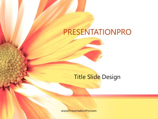 bursting flower powerpoint template background in nature powerpoint