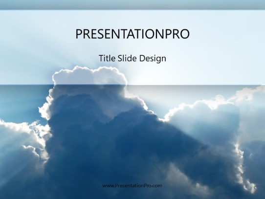 Cloud Beams Powerpoint Template Background In Nature Powerpoint Ppt