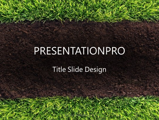 Grass And Soil PowerPoint template background in Nature ...