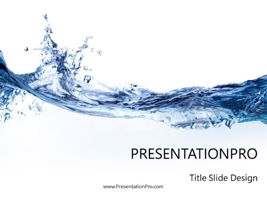 Liquid Water Powerpoint Template Background In Nature