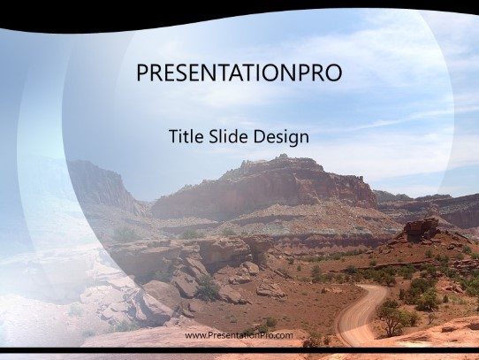 Southwest Desert Road Powerpoint Template Background In