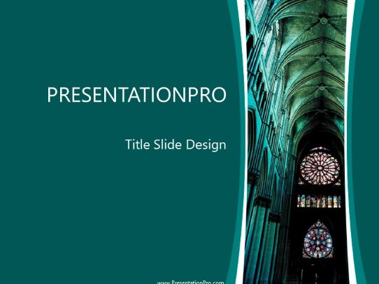 Cathedral 01 Powerpoint Template Background In Religious Spiritual